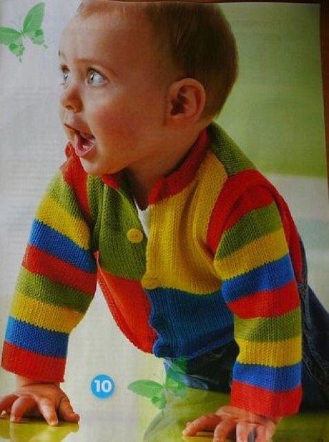 Вязание кофты для мальчиков на спицах