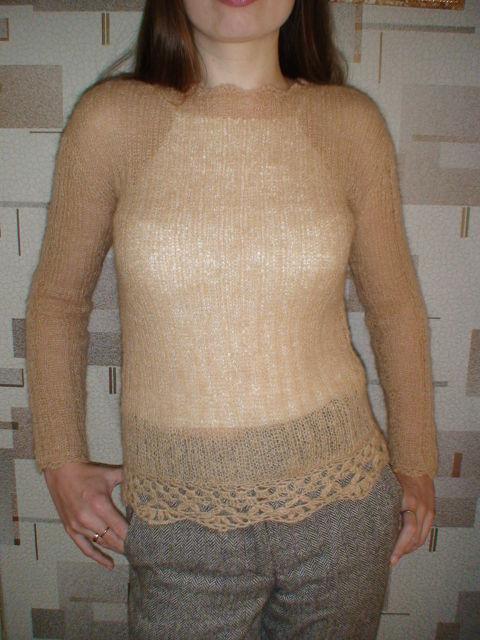Пуловер из тонкого мохера Гольфы выше коленаСпицами детям, юбка схема фото и свитер из тонкого мохера
