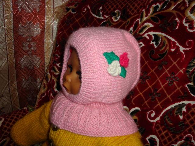 Вязание для девочек капор 700